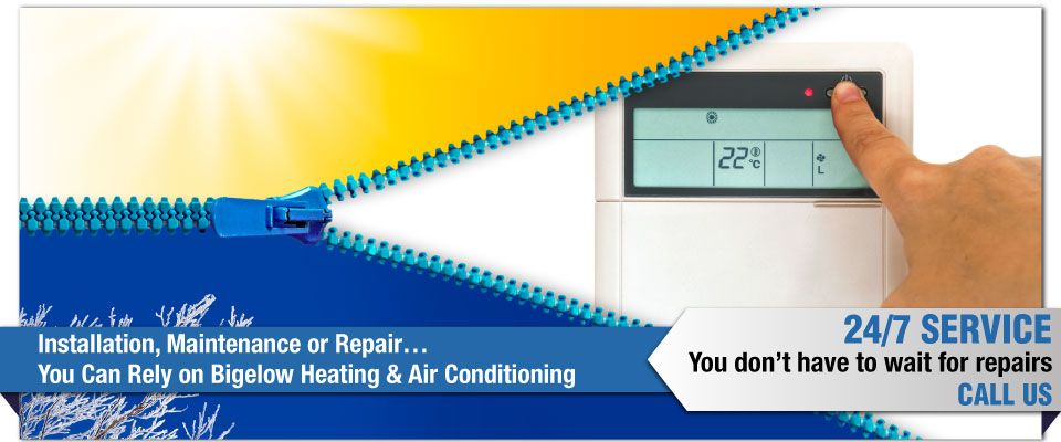 Installation, Maintenance or Repair…You Can Rely on Bigelow Heating & Air Conditioning - thermostat adjustment