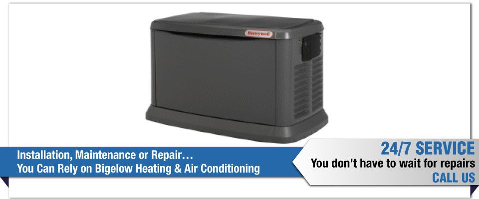 Installation, Maintenance or Repair…You Can Rely on Bigelow Heating & Air Conditioning - gas generator